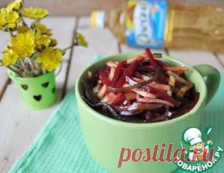 Витаминный салат из морской капусты - кулинарный рецепт