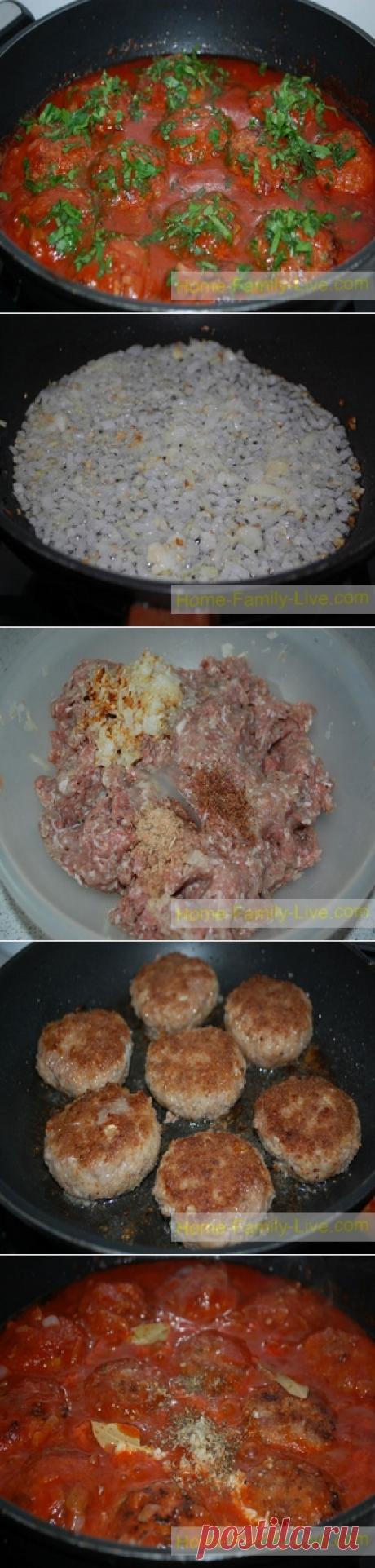 Котлеты в соусе/Сайт с пошаговыми рецептами с фото для тех кто любит готовить