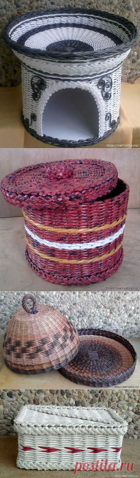 Weaving from newspapers. Master class and examples of application of a figured braid.