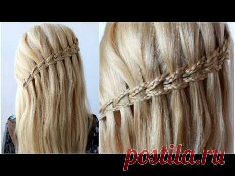 ✂️ Scissor Waterfall Braid EASY Step By Step  EASY hairstyle for wedding and party | party hairstyle