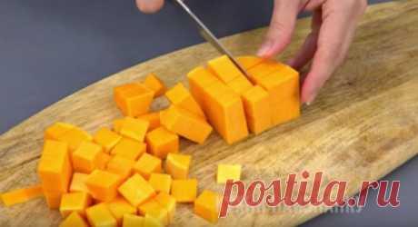 Десерт из тыквы за 6 минут: конфеты осенью не покупаю Просто, вкусно и полезно! Ингредиенты: тыква — 300 г сахар — 1...