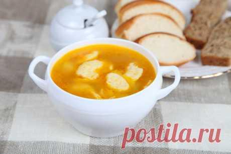 Быстрый куриный суп «Лентяй» с сырными рулетами » Женский Мир