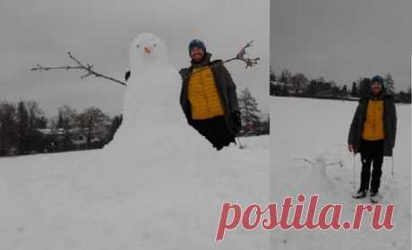 Фото с большим снеговиком (нет)