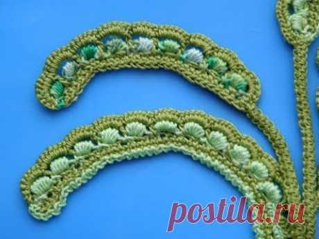 Ирландское кружево. Завиток Сrochet irish lace. Do it yourself - YouTube