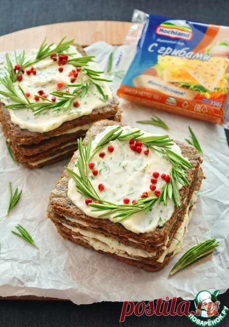 Печеночный торт с прослойкой плавленого сыра – кулинарный рецепт