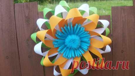 Как сделать красивый цветок из бумаги. Подробный мастер-класс | Поделки и Подарки Своими Руками | Яндекс Дзен