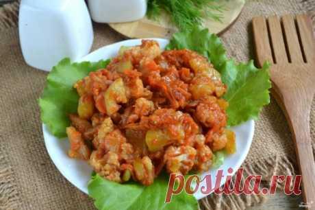 Овощное рагу с цветной капустой и кабачками - пошаговый рецепт с фото на Повар.ру