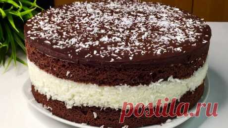 Торт Баунти,шоколадный,очень вкусный,простой рецепт