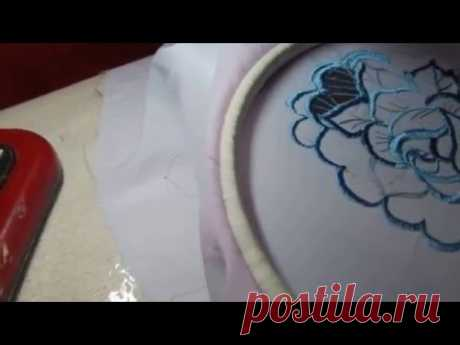 Mashinnayavyshivka Kak to learn to embroider on the simple sewing machine of Ukro of 1 broderie anglaise - YouTube