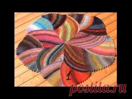 Полный МК Красивый #коврик_Вязание_спицами