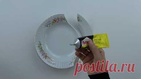 Золотая идея для рукодельниц из разбитой тарелки - Домоводство - медиаплатформа МирТесен