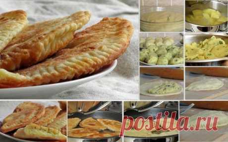 Чебуреки с сыром и картофелем - Шеф Кухни Ингредиенты: Для теста: Кефир – 250-300 гр Сметана – две ложки Топлёное …