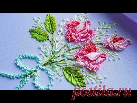 Вышивка: Бразильская Роза 🌸