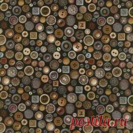 Пуговицы на черном 1618-002 - Старый портной <- RJR <- Ткани - Каталог | StitchCraft