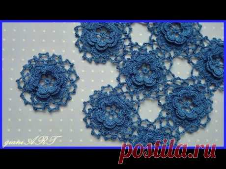 How to Join flower motifs together
