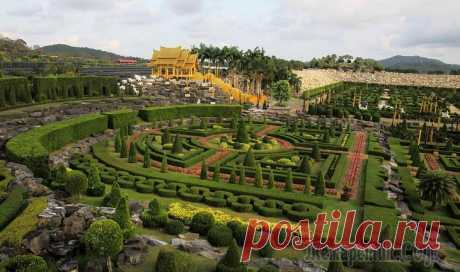 Таиланд 2019. 8. Ботанический сад Нонг Нуч вечерний