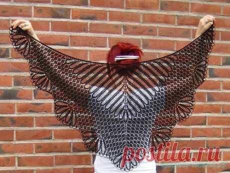 Красивое вязание   Шали