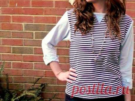 Рубашка+тельняшка (DIY) / Рубашки /