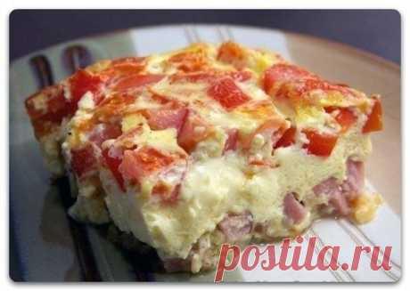Как приготовить омлет с помидорами и ветчиной в духовке  - рецепт, ингридиенты и фотографии