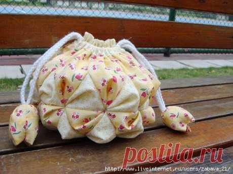 Чудесная сумочка-мешочек. МК.