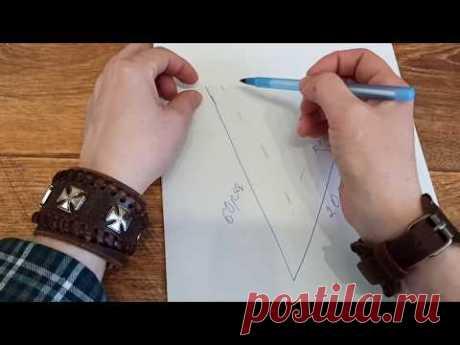 Как рассчитать прибавления петель на рукавах и убавления  петель для выреза Мысик.