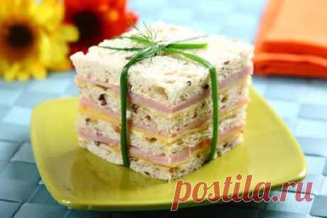 Простой рецепт вкусных сэндвичей – пошаговый рецепт с фото.