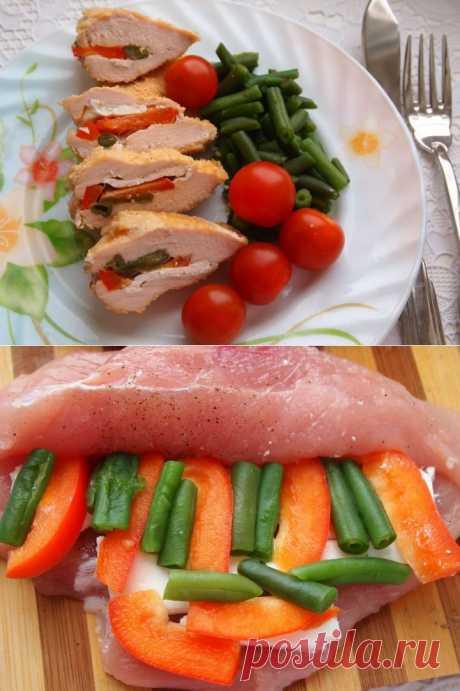Фаршированное куриное филе - пошаговый рецепт с фото - фаршированное куриное филе - как готовить: ингредиенты, состав, время приготовления - Леди@Mail.Ru