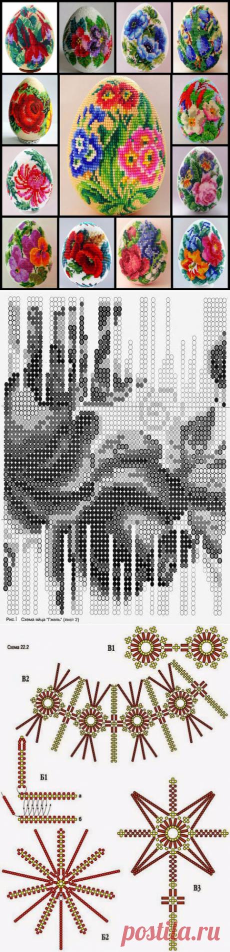 """Бисероплетение: """"Пасхальные яйца"""" (обзор + схемы)"""