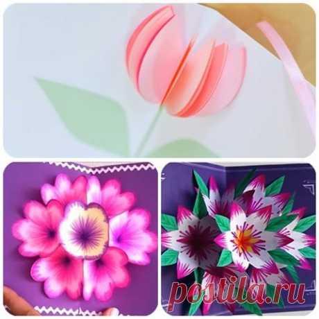 Las tarjetas hermosas 3D a 8 Martha por las manos — 4 clases maestras | razpetelka.ru