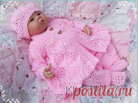 """Жакет """"Цветочная фантазия"""" для новорожденной девочки - Страна Мам"""