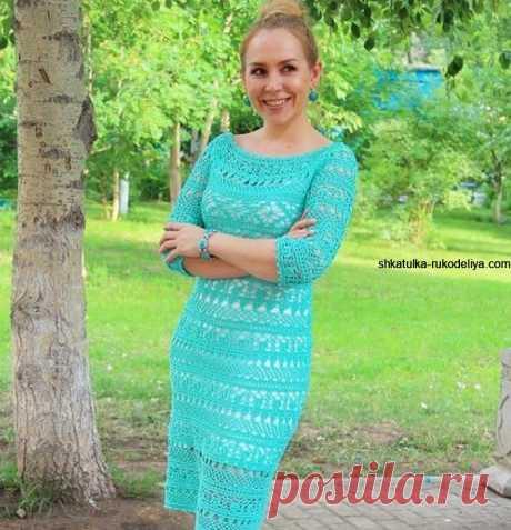 Вязание крючком платья схемы и модели бесплатно