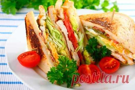 Клаб сэндвич с курицей и яйцом – пошаговый рецепт с фото.