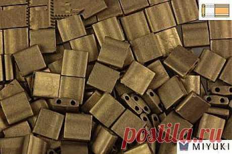 MIYUKI Beads TILA Matte Gold Iris 5mm