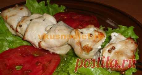 Куриный шашлык в аэрогриле Куриный шашлык в аэрогриле, приготовленный по аналогии с традиционным шашлыком на мангале в домашних условиях. Рекомендован для здорового питания.