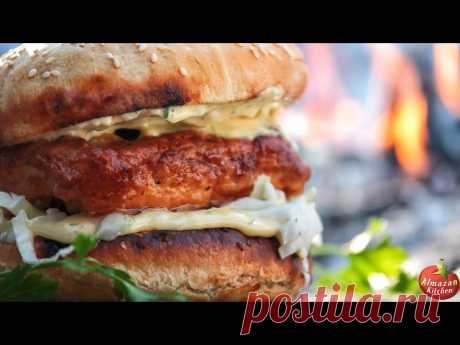 Epic McChicken! - Made in the Forest from Scratch! What makes this McChicken so special? It is the only one in the world that is made from scratch in the winter forest, near the frozen waterfall! Except the ambience this video is the top level foodporn that guarantees unique, satisfying and mouth-watering