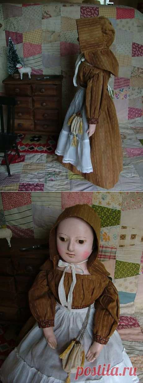 Reproduction Izannah Walker Doll Antique 19THCENTURY Cloth Doll by Sonia Krause | eBay