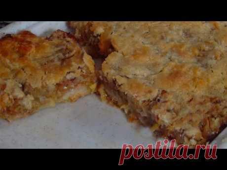 Изумительно вкусный насыпной чешский яблочный пирог