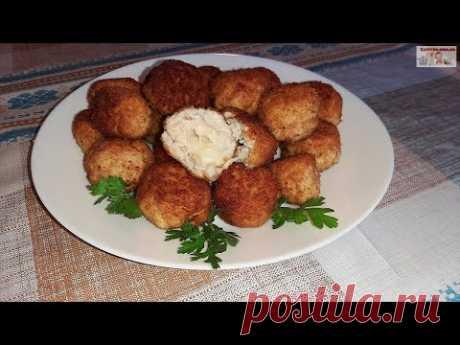 Куриные шарики с сыром Моцарелла (+ВИДЕО) - Затейка.com.ua - рецепты вкусных десертов, уроки вязания схемы, народное прикладное творчество