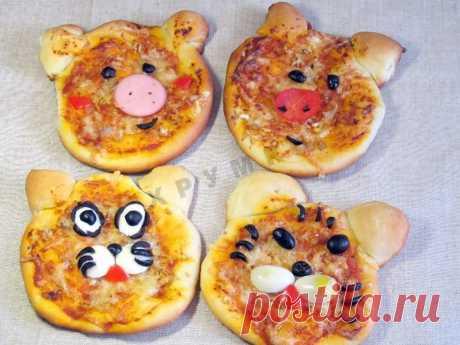Забавная детская мини пицца для детей рецепт с фото пошагово и видео - 1000.menu