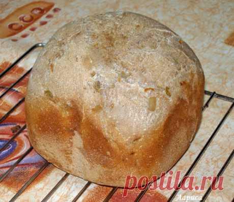 Печем хлеб в хлебопечке. Хлеб ржаной с луком