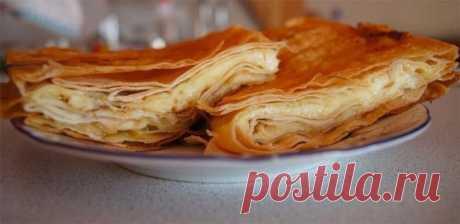 Слоеный пирог из лаваша с сыром