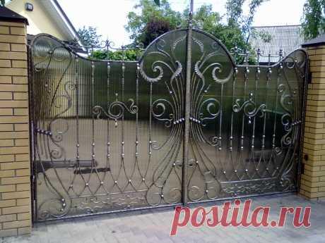 Кованые ворота своими руками - инструкция по изготовлению!