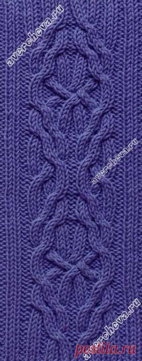 Красивая коса для центрального мотива   каталог вязаных спицами узоров
