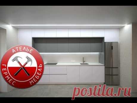 Белая Кухня FENIX с Антресолями. Обзор № 99.
