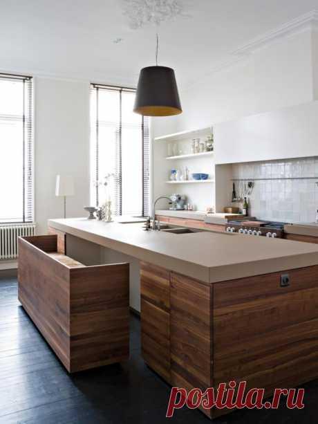Как сэкономить место на кухне: 18 интерьеров со столами-трансформерами — Roomble.com