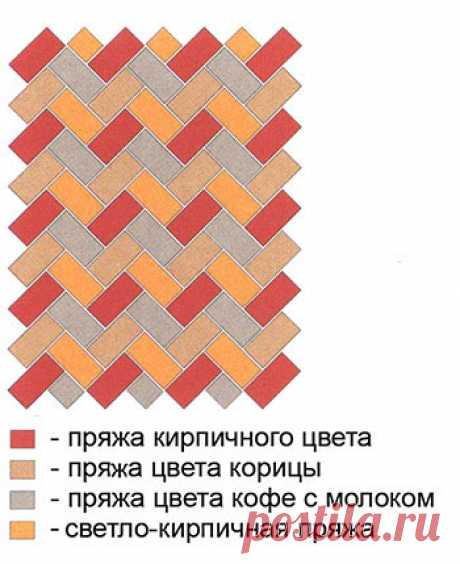 Коврик «Кирпичики» | Loveknitting.ru