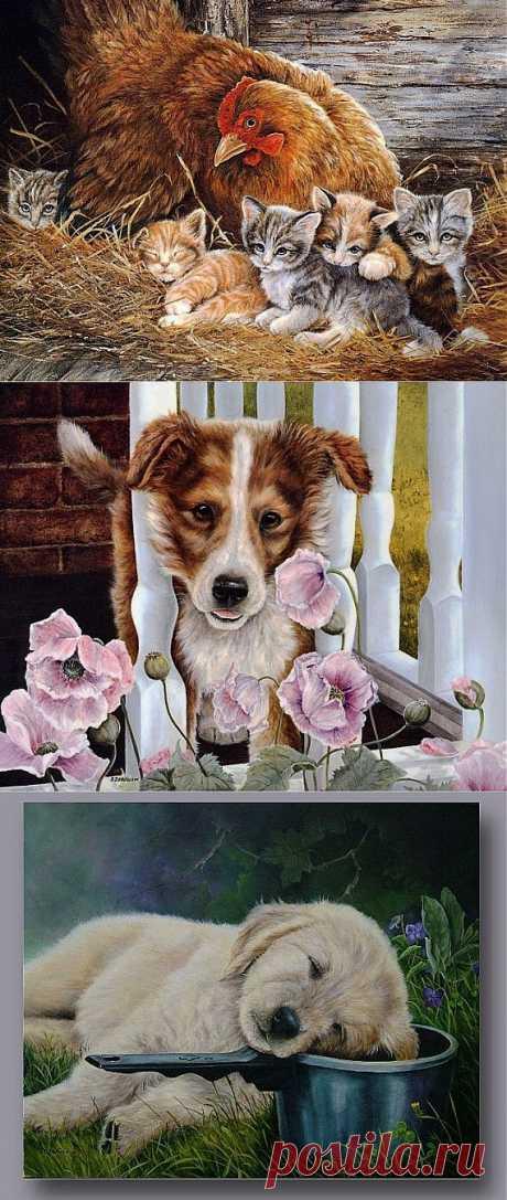 Картинки. Милые животные. / Декупаж. Мастер-классы / PassionForum - мастер-классы по рукоделию