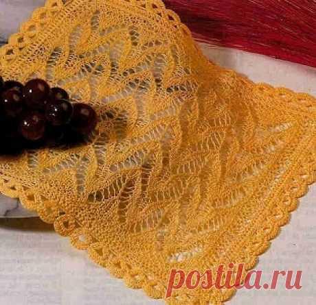 Вязание салфетки спицами