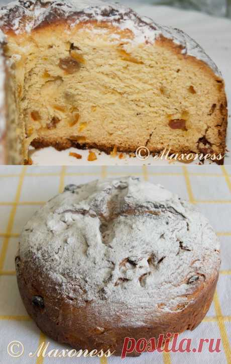 Проверенные рецепты: Панетонне. Очень вкусный и ароматный итальянский рождественский кекс, который у нас часто подают на Пасху.