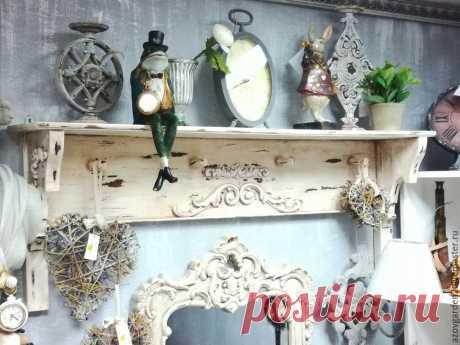Реставрируем старую полку и декорируем ее в стиле шебби-шик - Ярмарка Мастеров - ручная работа, handmade